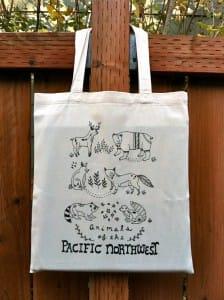 bolsas de algodón con dibujos
