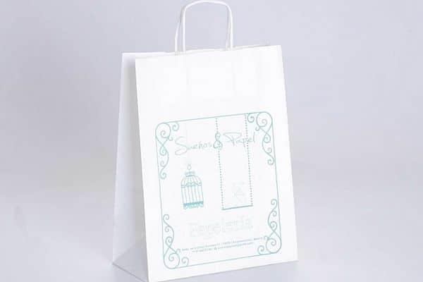 bolsas de papel blanco con logo