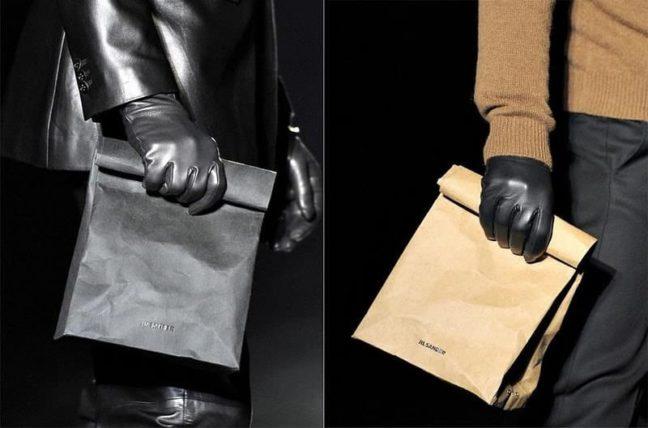bolsas de papel en la alta costura