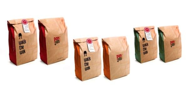 bolsas de papel kraft para transportar comida