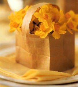 bolsas de papel como decoración