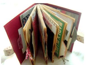 bolsas de papel convertidas en albumes