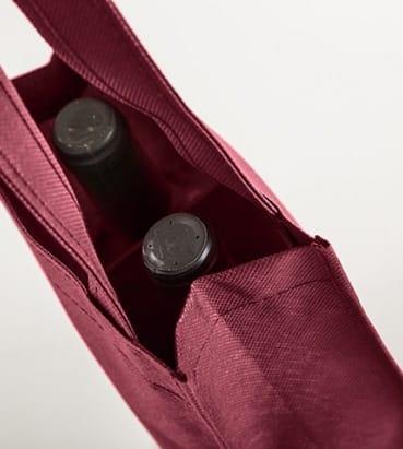 bolsas de tela para dos botellas