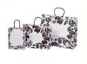 Bolsas de papel con motivos florales