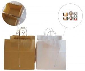 bolsas de papel para transportar comida
