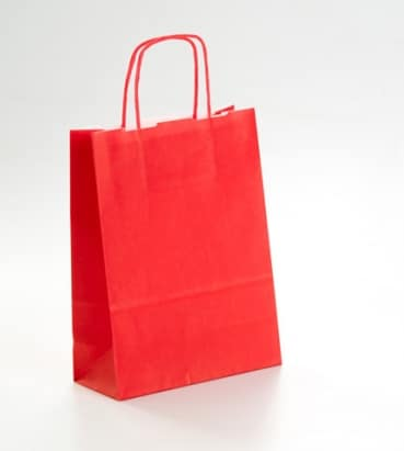 bolsas de papel rojas