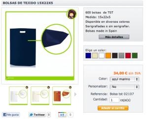 bolsas de tejido muy baratas