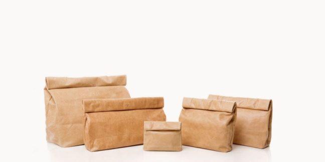 bolsos inspirados en bolsas de papel