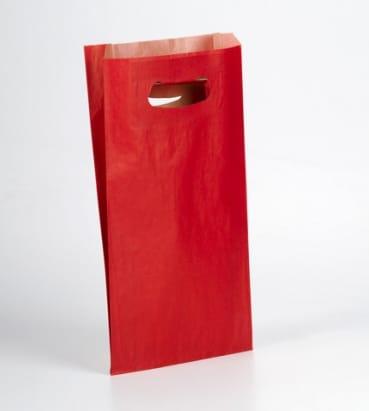 bolsas rojas con asa troquel