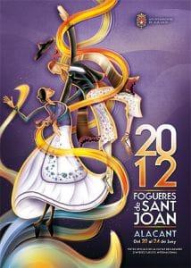 cartel de Fogueres 2012