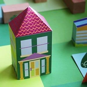 casitas de papel