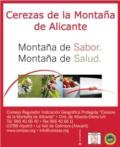 Cerezas de la montaña de Alicante