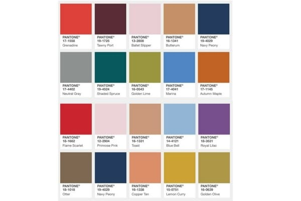 colores de moda pantone