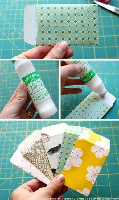 cómo hacer sobres de papel