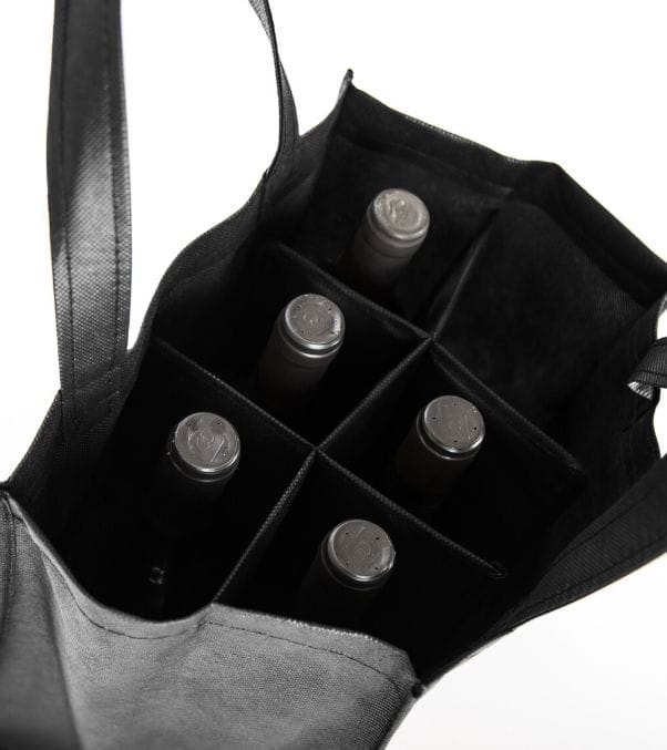 bolsa de botellas recicladas