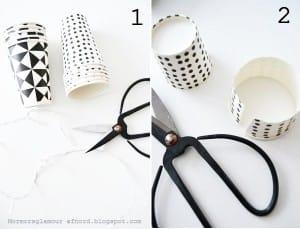 decoracion con vasos de papel