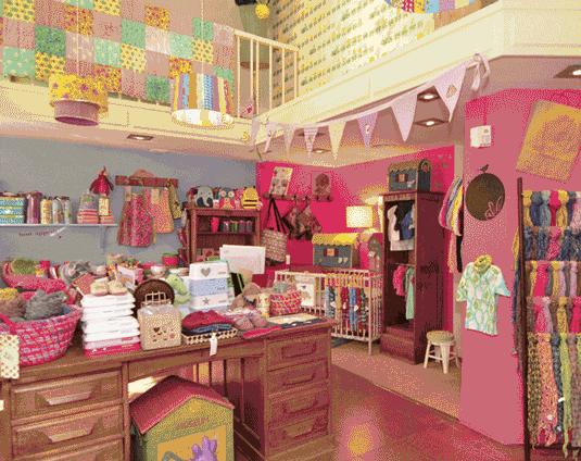 decoración en tiendas infantiles