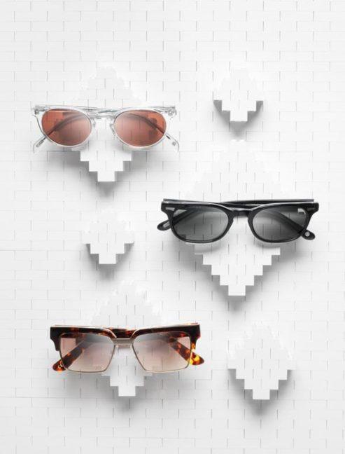 Escaparates con gafas de sol