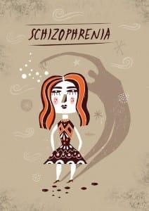 dibujo de esquizofrenia