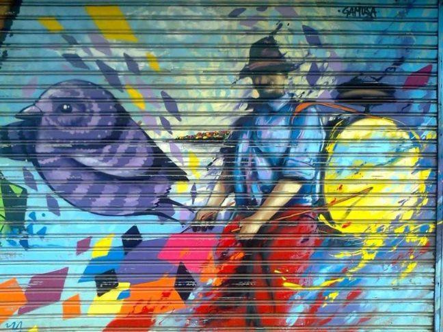 grafiti en persiana