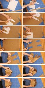 cómo hacer bolsas-cestas