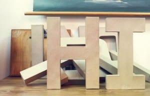 letras de carton