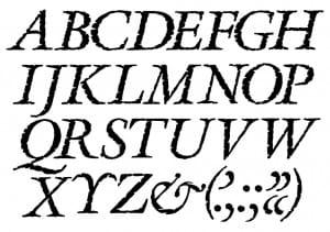 linea de las tipografías
