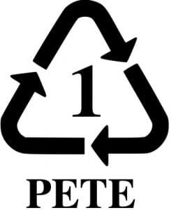 símbolos de plásticos Pet