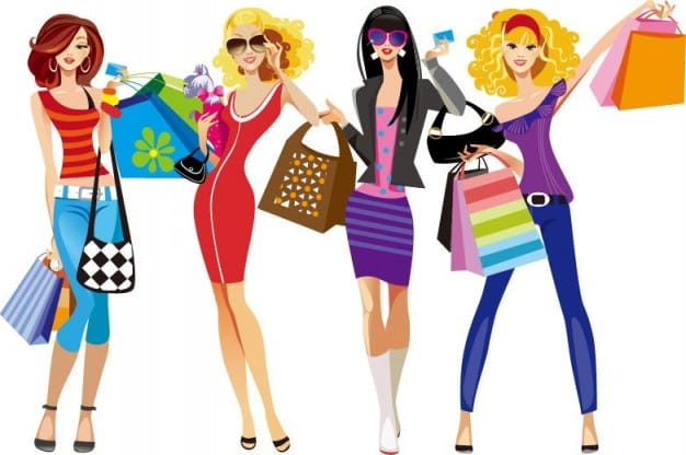 Chicas de compras solidarias