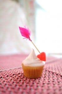 cupcake para San Valentín