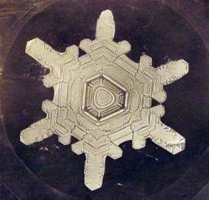 La primera foto de un copo de nieve