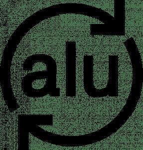 logotipo de reciclar aluminio