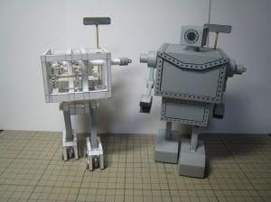 robots hechos de papel