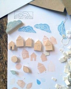 sellos para decorar bolsas
