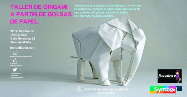taller de origami con bolsas