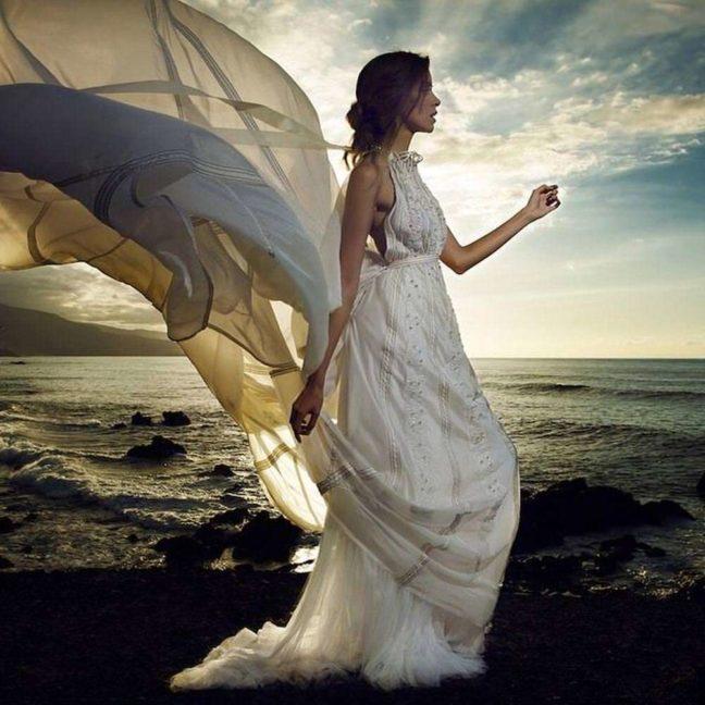 vestido de novia de Marco y María