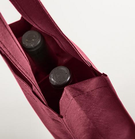 Sacs en tissu pour deux bouteilles 18x30x9