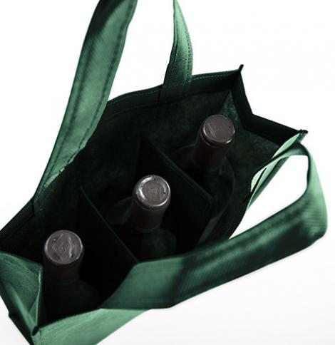 Bolsas de tela para tres botellas 27x30x9