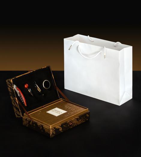 Bolsas de lujo satinadas 30x25x10
