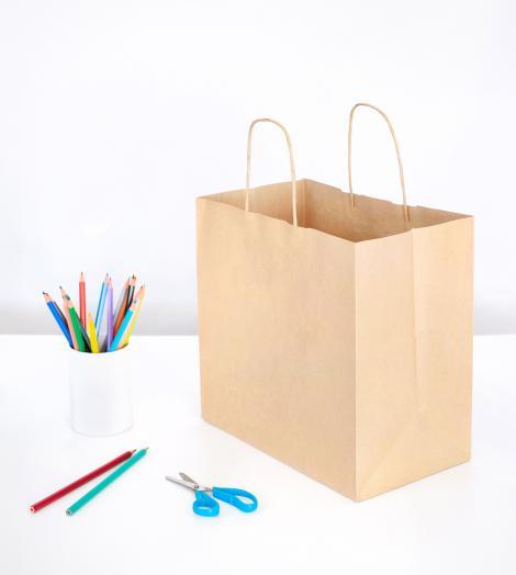 Bolsas papel kraft reciclado 28x27x16