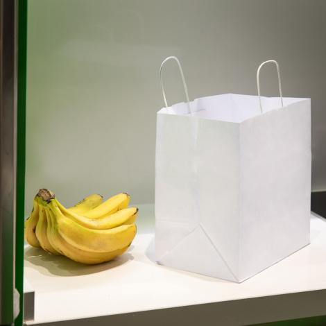 Bolsas de papel blanco take away 30x29x18