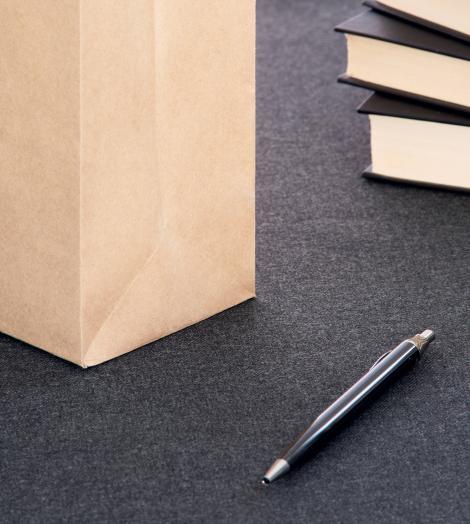 Bolsas papel kraft reciclado 27x31x9