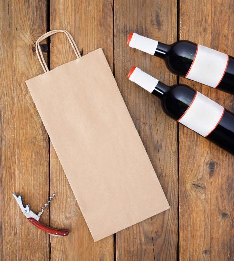 Bolsa para botellas 18x39x8