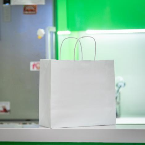 Bolsas de papel blanco take away 27x26x14