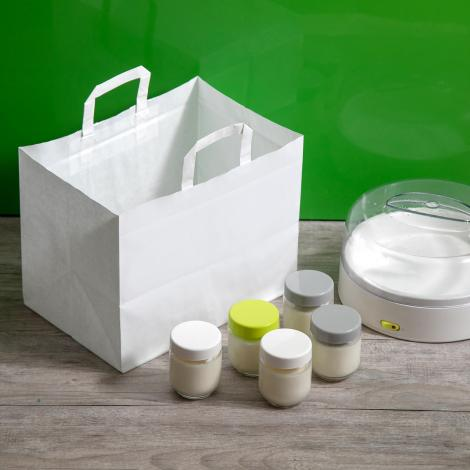 Bolsas de papel take away 32x25x22 blancas