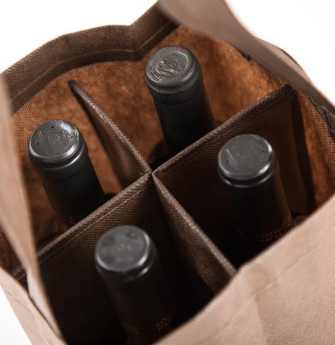 Bolsas para cuatro botellas 18x30x18